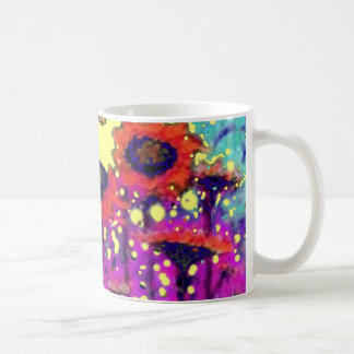 Purple Lace Sunflower Moon Garden by Sharles Coffee Mug
