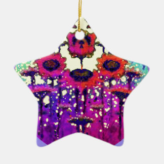 Purple Lace Sunflower Moon Garden by Sharles Christmas Ornaments