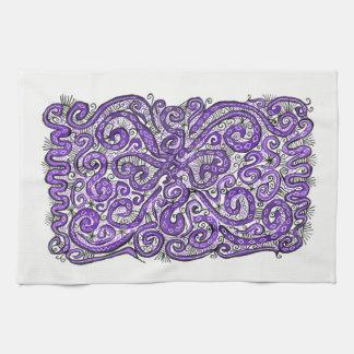 purple lace towels