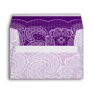 Purple Lace Wedding Envelope