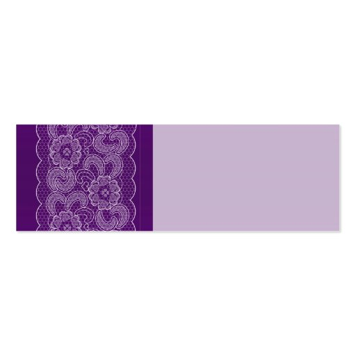 Purple Lace Wedding Place Name Cards Business Card Templates