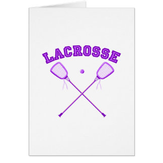 Purple Lacrosse Logo Card