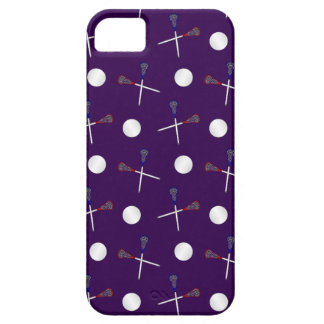 Purple lacrosse pattern iPhone 5 cover