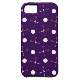 Purple lacrosse pattern iPhone 5 covers