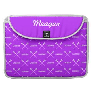 Purple Lacrosse Sticks MacBook Pro Sleeve