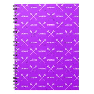 Purple Lacrosse Sticks Notebook