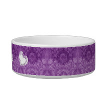 Purple Lacy Grunge Wedding Collection Z32 Bowl