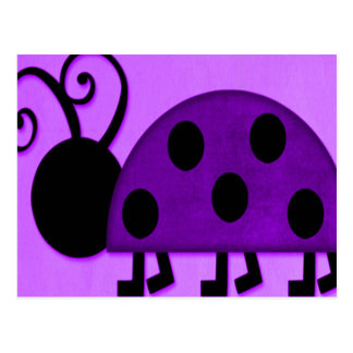Purple Lady Bug Postcard