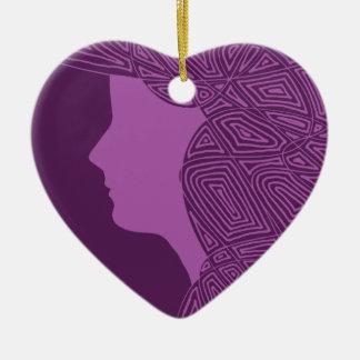 Purple Lady Ceramic Ornament