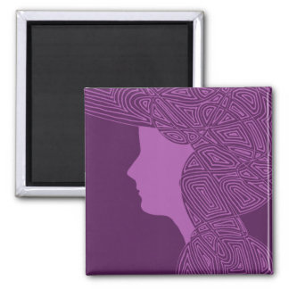 Purple Lady Fridge Magnet