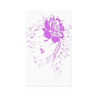 Purple Lady of Chronic Pain Canvas Prints