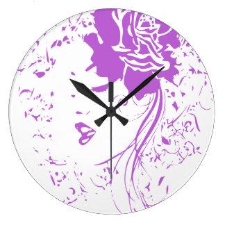 Purple Lady of Chronic Pain Clock