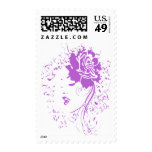 Purple Lady of Chronic Pain Stamp