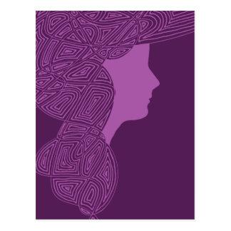 Purple Lady Postcard