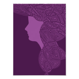Purple Lady Posters
