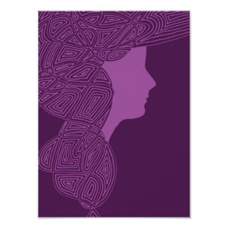 Purple Lady Poster