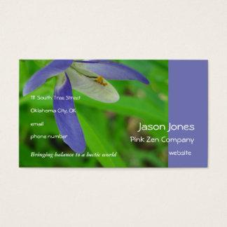Purple lady slipper business card
