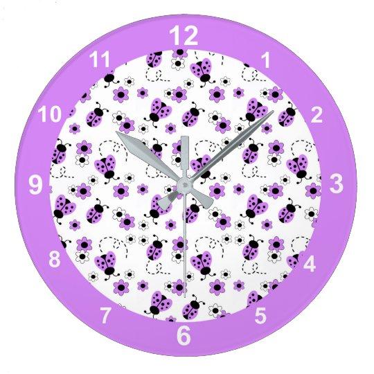 Personalized Pretty Pink Ladybug Nursery Clock Girl Nursery Decor Gift