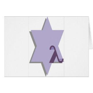 Purple Lambda Star Card