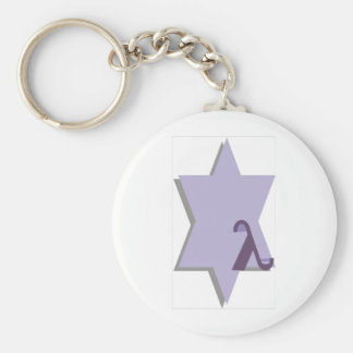 Purple Lambda Star Key Chains
