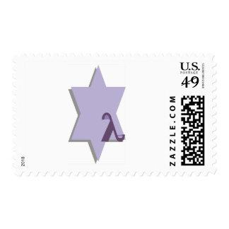 Purple Lambda Star Postage