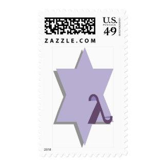 Purple Lambda Star Postage Stamps