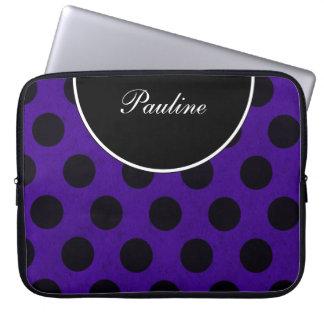 Purple Laptop Monogram Sleeves Laptop Computer Sleeve