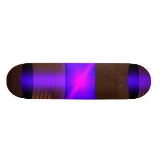Purple laser skateboard deck