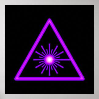 Purple Laser Symbol Poster