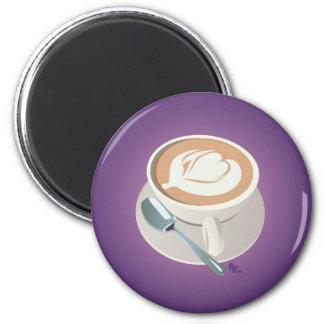 Purple Latte Magnet