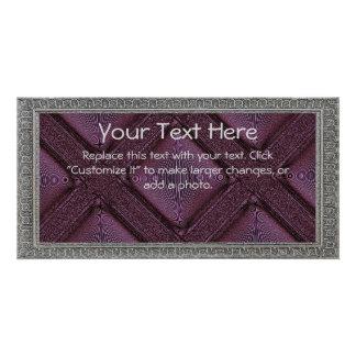 Purple Lattice Card