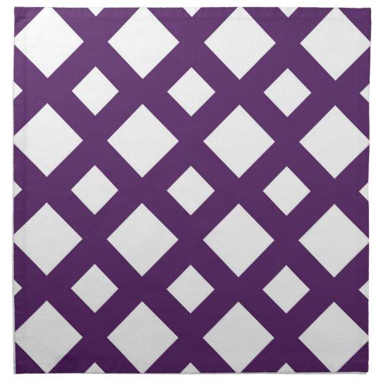 Purple Lattice on White Napkin
