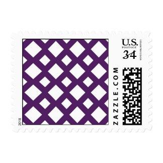 Purple Lattice on White Postage