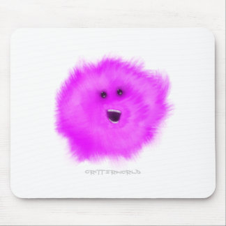 Purple Laughing Puffball Critter Mousepad