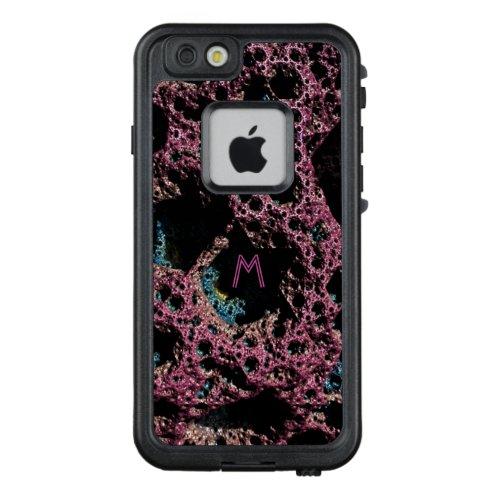 Purple Lava 3D Fractal Monogram Case 3 Phone Case