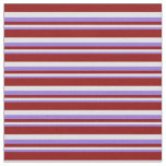 [ Thumbnail: Purple, Lavender, and Dark Red Colored Stripes Fabric ]