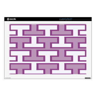 Purple Lavender and White Bricks Decals For Laptops