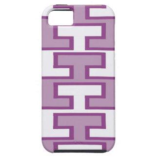Purple Lavender and White Bricks iPhone 5 Cases