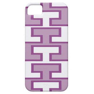 Purple Lavender and White Bricks iPhone 5 Cover