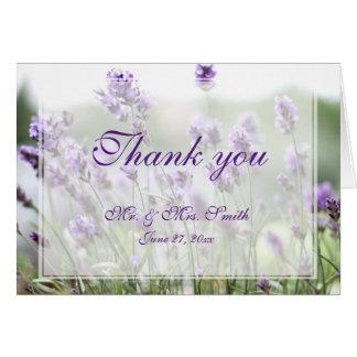 Purple Lavender Bohemian Wedding Thank You Cards