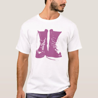 Purple Lavender Boots with Untied Laces T-Shirt