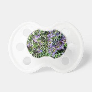 Purple Lavender Botanical Flowers. Pacifier