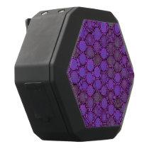 Purple Lavender Bubble Pattern Black Bluetooth Speaker