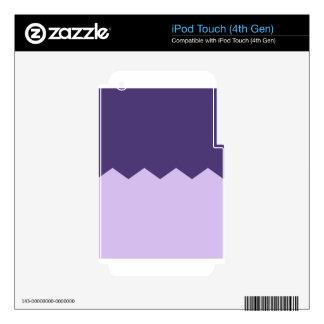 purple & lavender chevron part skins for iPod touch 4G