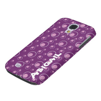 Purple Lavender Circle Pattern HTC Vivid Cell Case Samsung Galaxy S4 Cover