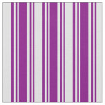 [ Thumbnail: Purple & Lavender Colored Lined Pattern Fabric ]