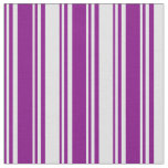 [ Thumbnail: Purple & Lavender Colored Lines Fabric ]