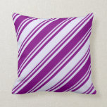 [ Thumbnail: Purple & Lavender Colored Lines Throw Pillow ]
