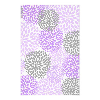Purple Lavender Dahlia Scrapbook Crafting Paper