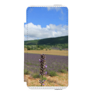 Purple lavender fields near Sault Wallet Case For iPhone SE/5/5s